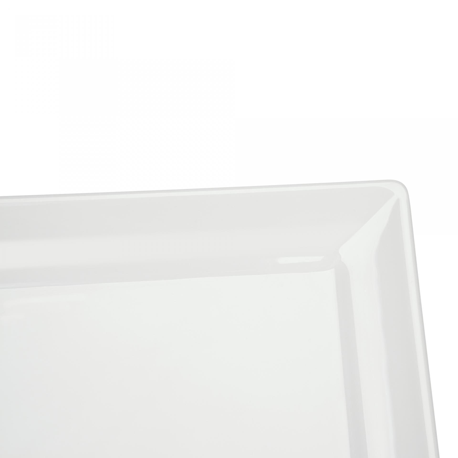 Prato Quadrado Cheff Branco 27Cm Melamina Haus 50501/001