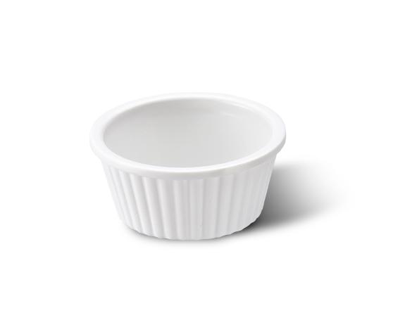 Ramekin Canelado Branco 30Ml Melamina Haus 51901/001