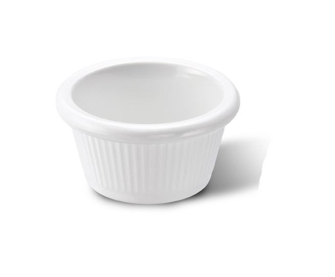 Ramekin Canelado Branco 50ml Melamina Haus 51901/003