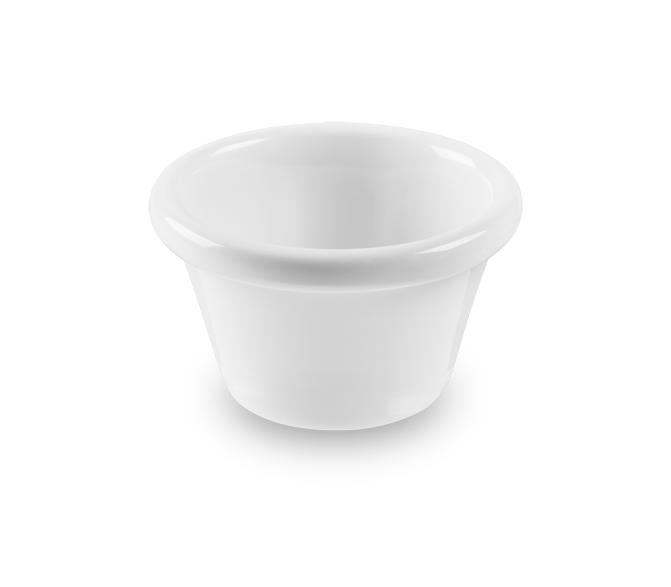 Ramekin Liso Branco 40ml Melamina Haus 51901/002