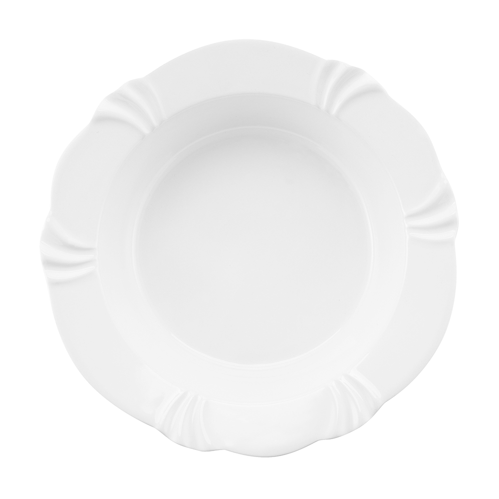Saladeira 30cm 2 Litros Soleil White Porcelana Oxford