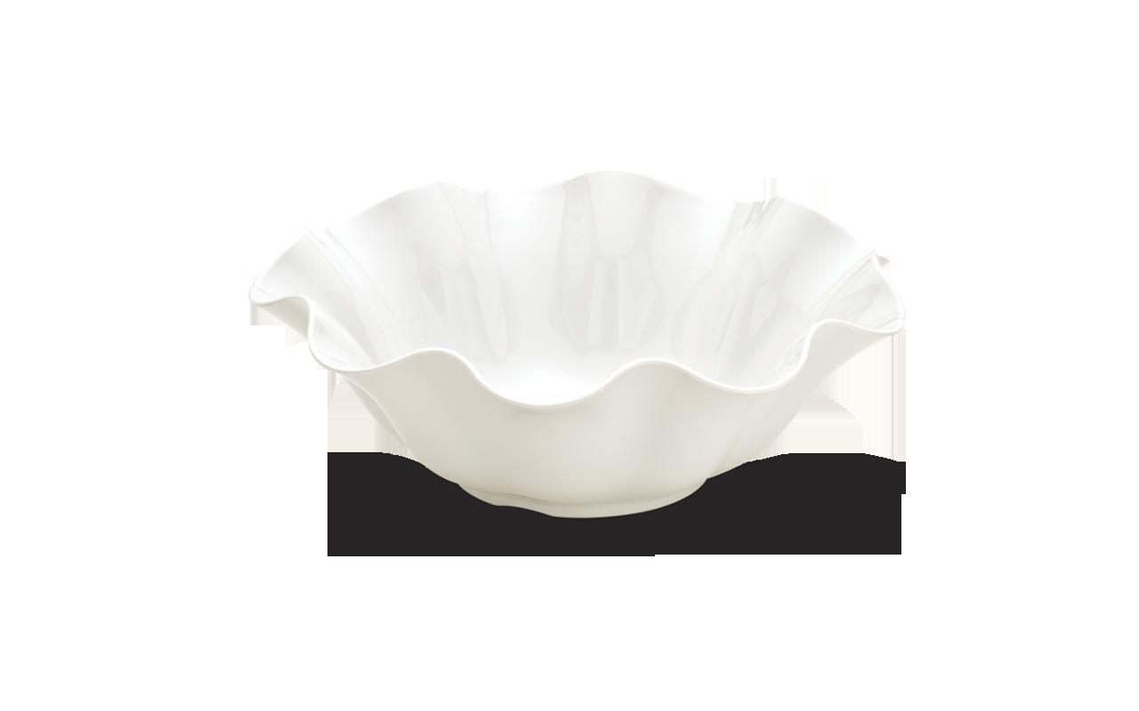 Saladeira Flower Branca 31Cm 3L Melamina Haus 50901/002