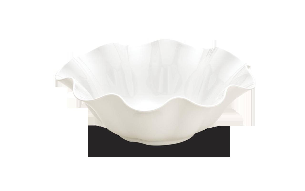 Saladeira Flower Branca 34Cm 4L Melamina Haus 50901/004