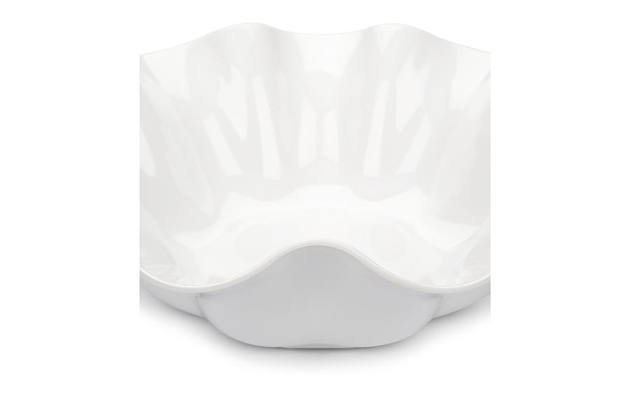 Saladeira Flower Branca 39Cm 5,6L Melamina Haus 50901/003