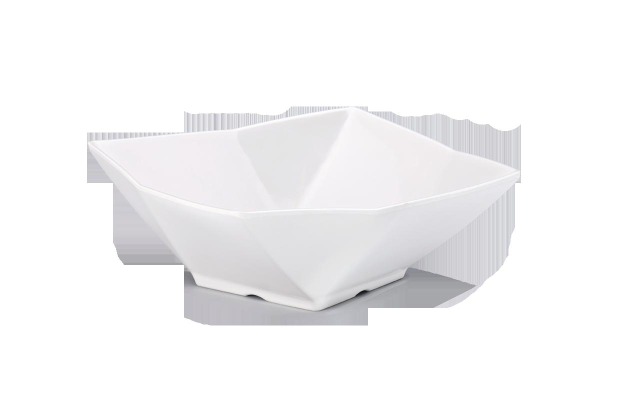 Saladeira Polygon Branca 2,5L Melamina Haus 51701/001