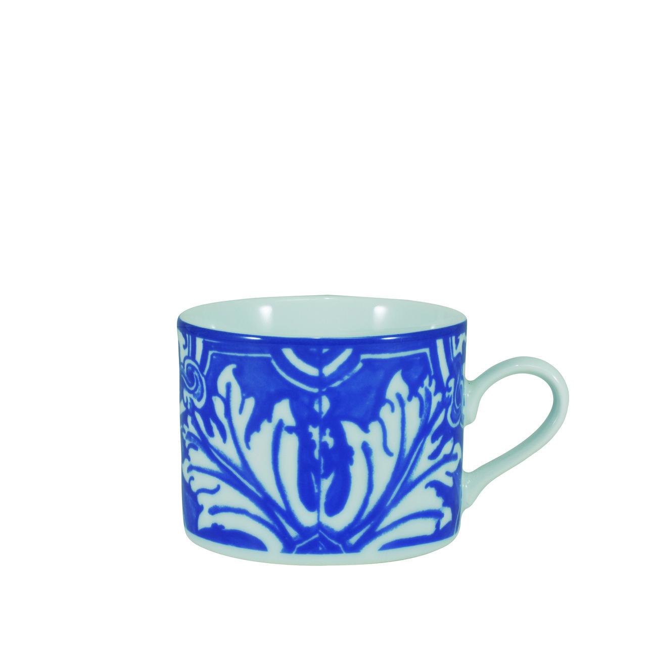 Serviço De Jantar e Chá Em Porcelana Com 20 Peças - Azulejo Schmidt