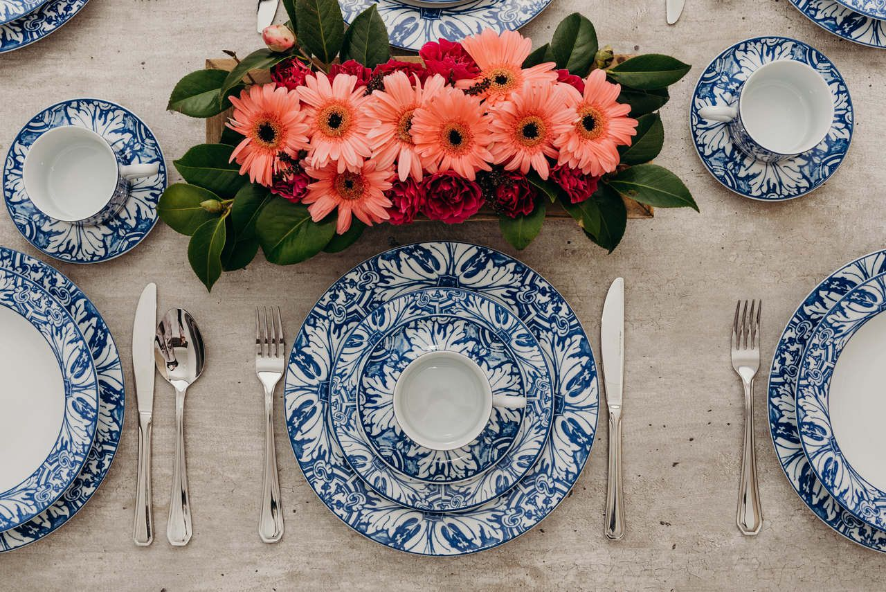 Serviço De Jantar E Chá Em Porcelana 30 Peças - Brasilia Azulejos por Francesca Romana Diana