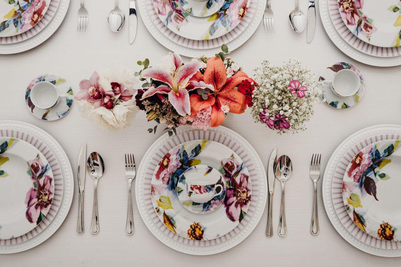 Serviço De Jantar e Chá Em Porcelana 30 Peças - Giovana Schmidt