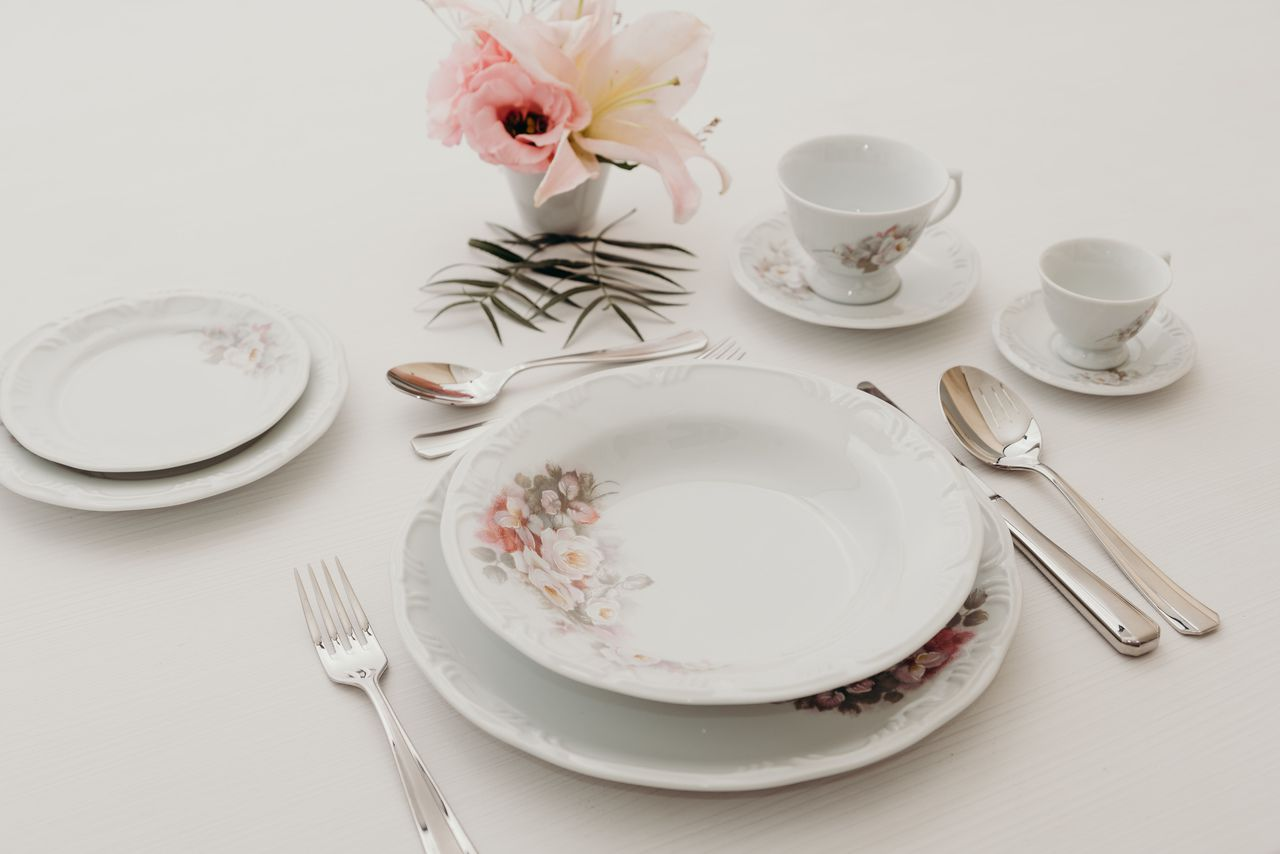 Serviço De Jantar E Chá Em Porcelana Com 20 Peças - Eterna Schmidt