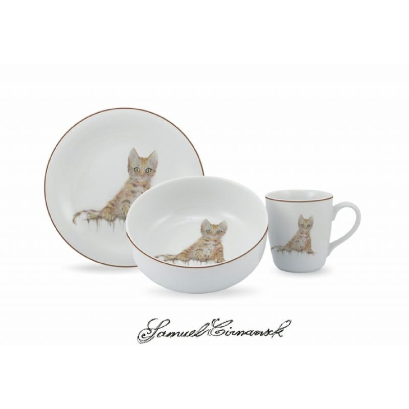 Serviço De Lanche 12 Peças Em Porcelana - Gato Urban Schmidt