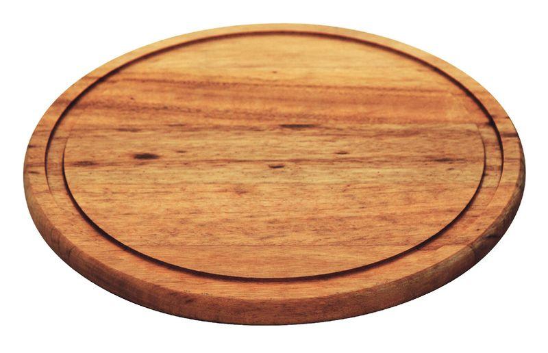 Tábua Para Churrasco Redonda Madeira Muiracatiara 23cm Tramontina - 10004/100