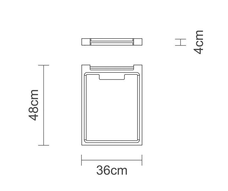 Tábua Para Churrasco Madeira Invertida Teca 48 x 36cm Tramontina - 10102/050