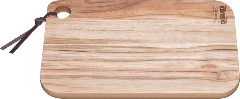 Tábua Para Churrasco Retangular Madeira Teca 33 x 20cm Tramontina - 13216/052
