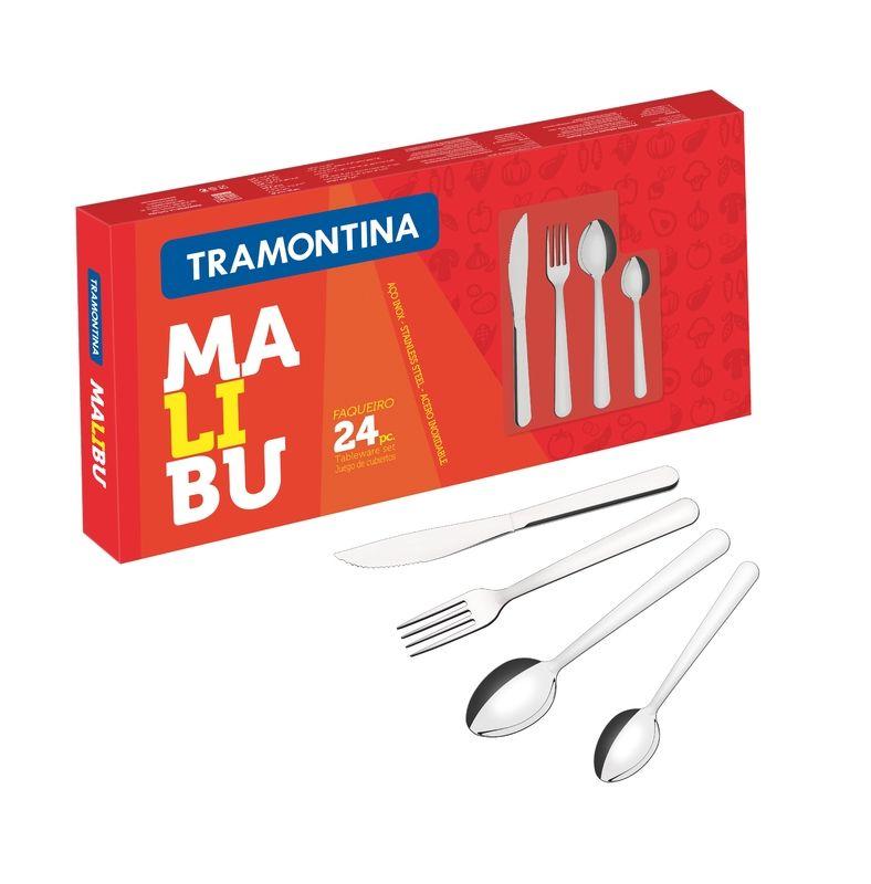 Talheres Inox 24 Peças Malibu Tramontina Oferta 23799/022