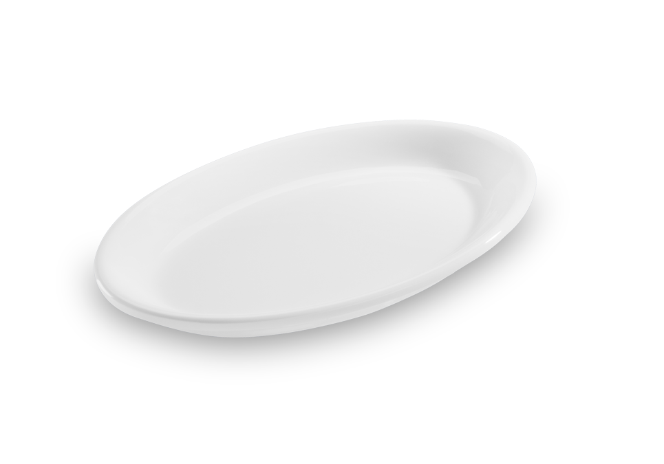 Travessa Oval Solid Branca 21X13Cm Melamina Haus 52401/002
