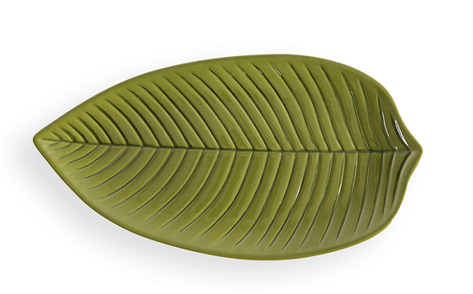 Travessa Planta Longa Verde 45X24,2Cm Melamina Haus 53609/002