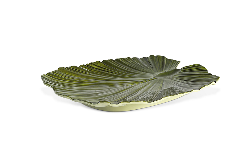 Travessa Planta Verde 35,2X34,3Cm Melamina Haus 53609/001