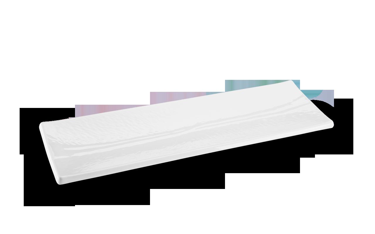 Travessa Retangular Texture Branca 63X265Cm Melamina Haus 52801/001