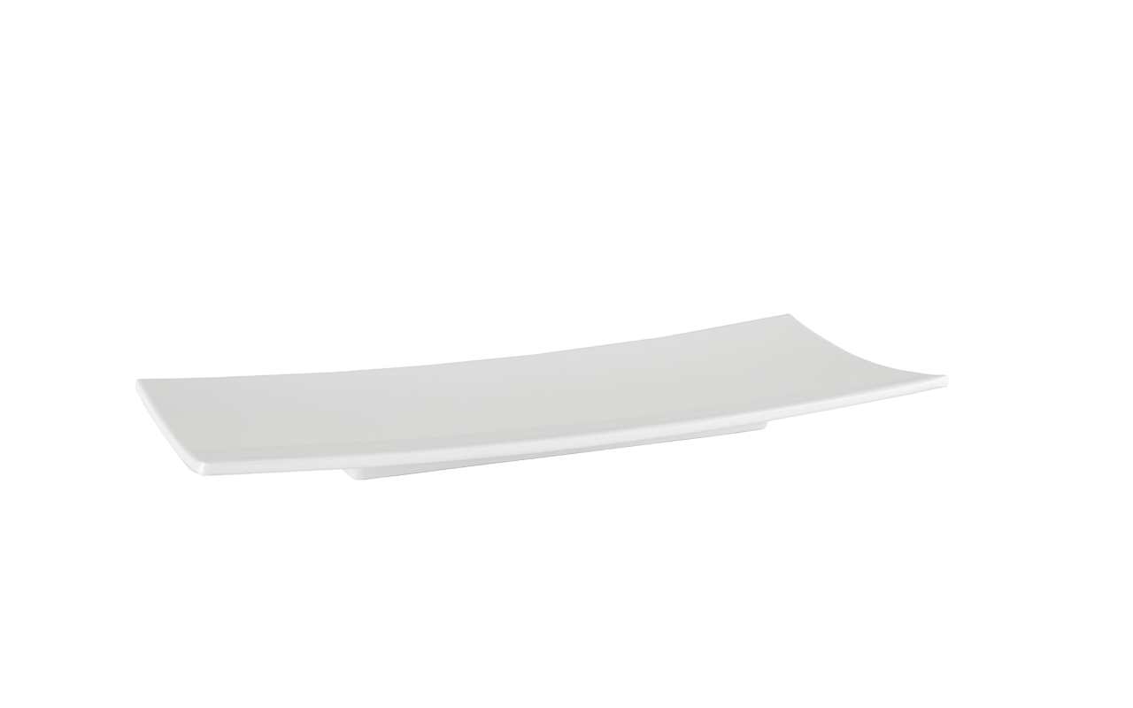 Travessa Sashimi Oriente Branca 30Cm Melamina Haus 53201/005