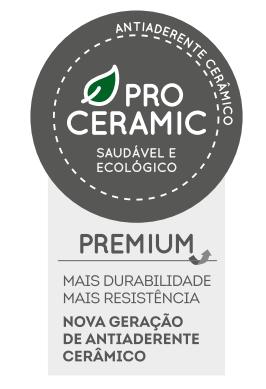 Wok Em Cerâmica Premium Tampa de Vidro 28cm 3L Unique Brinox -  4793/133