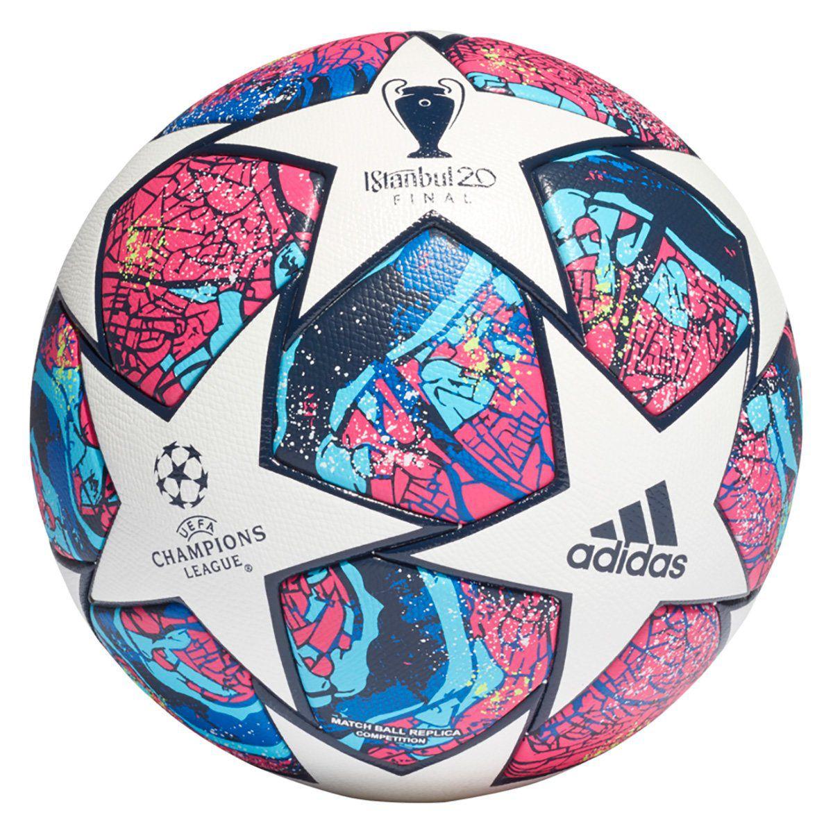 Bola de Futebol Campo Adidas UEFA Champions League Competition Final Istanbul 20 - Branco