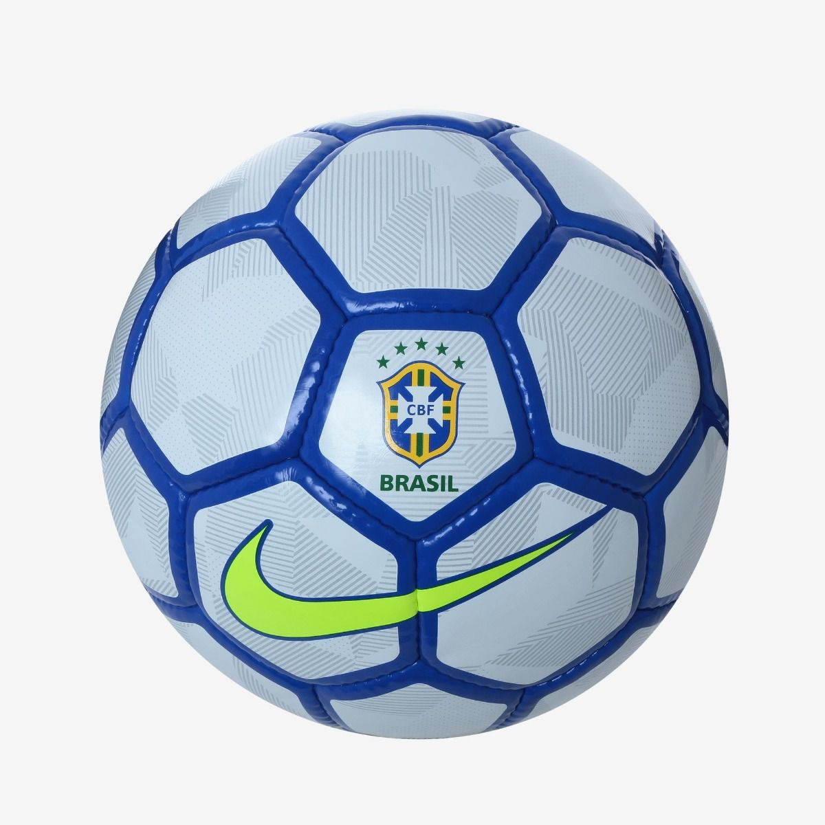 152e7193f Bola Futebol Society Nike Cbf Brasil -branco e Azul - BRACIA SHOP ...