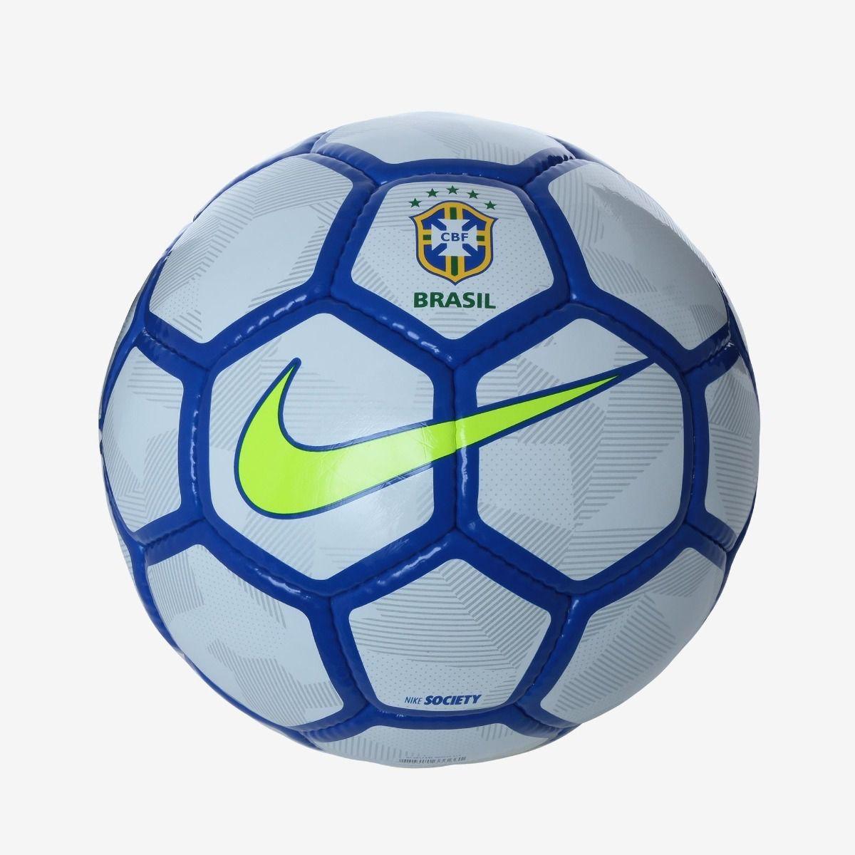 e53538238b002 Bola Futebol Society Nike Cbf Brasil -branco e Azul - BRACIA SHOP ...