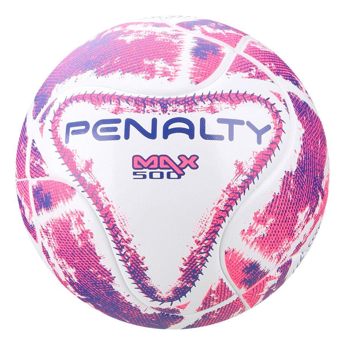 Bola Futsal Penalty Max 500 Term LX - Branco Rosa