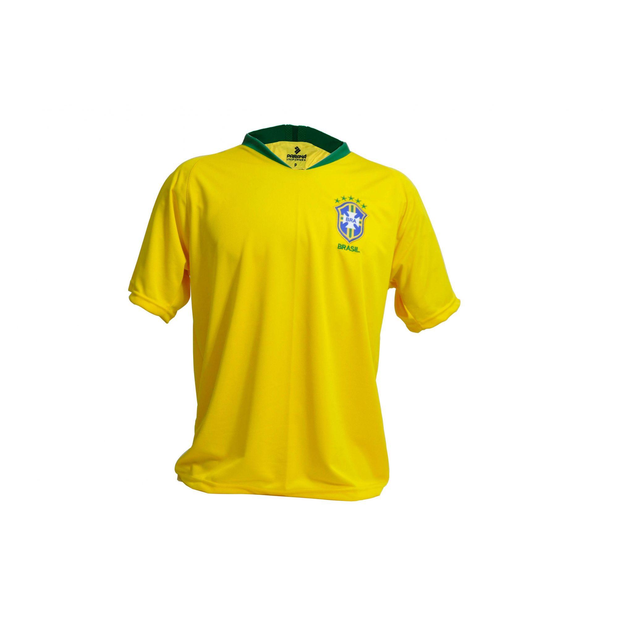5385f3a41 Camisa Brasil Seleção Brasileira Copa 2018 Masculina - BRACIA SHOP ...