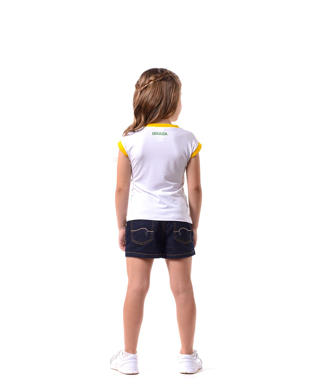 6beac5dab664b Camisa Infantil Braziline Mamore Feminina Branca - BRACIA SHOP  Loja ...
