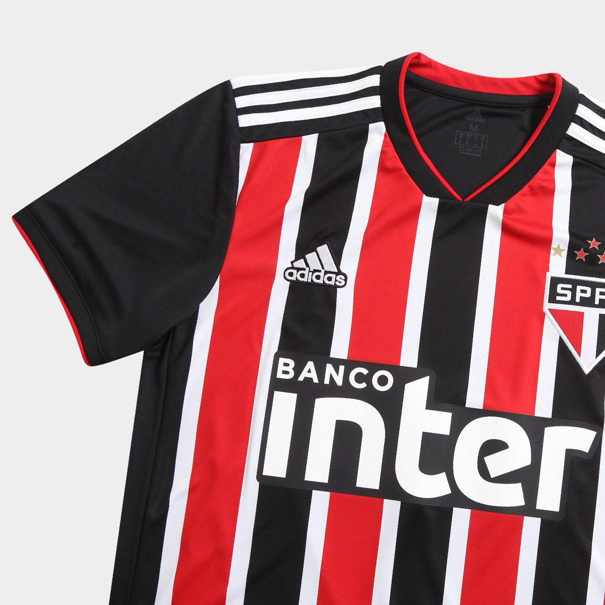 914f8816814 Camisa Masculina Adidas São Paulo II 2018 s/n° Torcedor - BRACIA ...