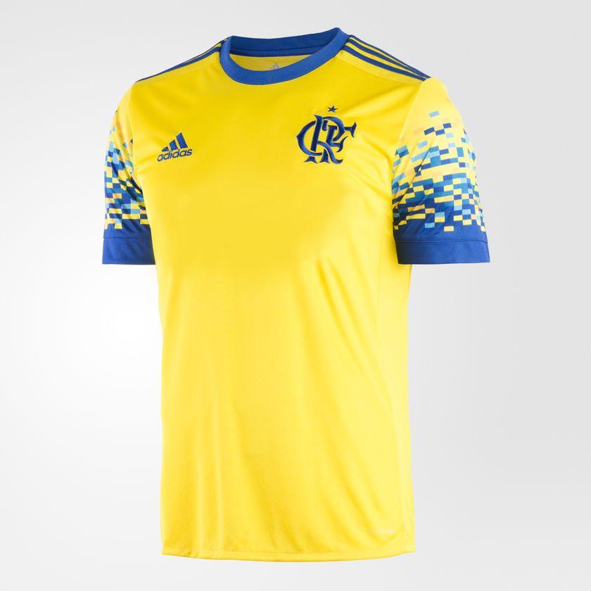 6eee032cc6a55 Camisa Masculina Flamengo Adidas Iii 17 18 S nº Torcedor - BRACIA ...
