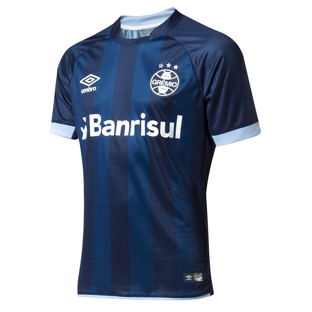319724b509 Camisa Masculina Umbro Grêmio Of.3 2017 2018 Torcedor N°10 - BRACIA ...