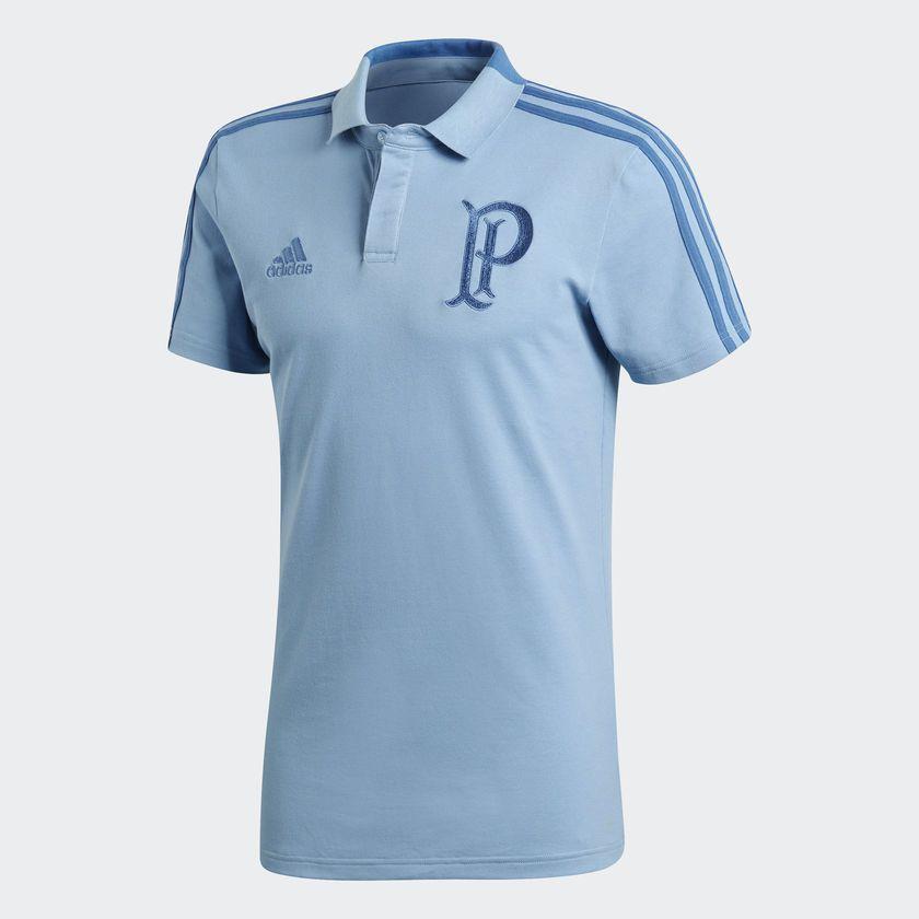 55f29aefcf Camisa Palmeiras Polo Adidas Azul - BRACIA SHOP  Loja de Roupas ...