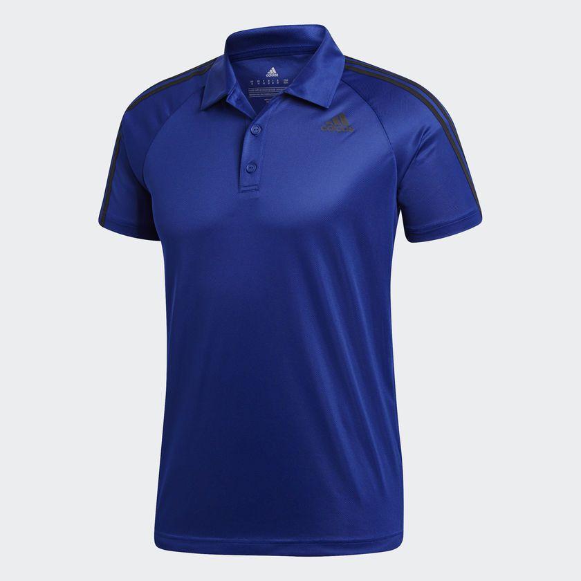 Camisa Polo Masculina Adidas D2m 3 Stripes - BRACIA SHOP  Loja de ... 2d04b629c68fc