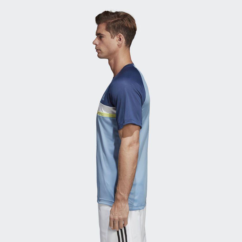 f45b1c05636e1 ... Camiseta Adidas Colorblock Club Proteção Solar Uv Masculina - BRACIA  SHOP ...
