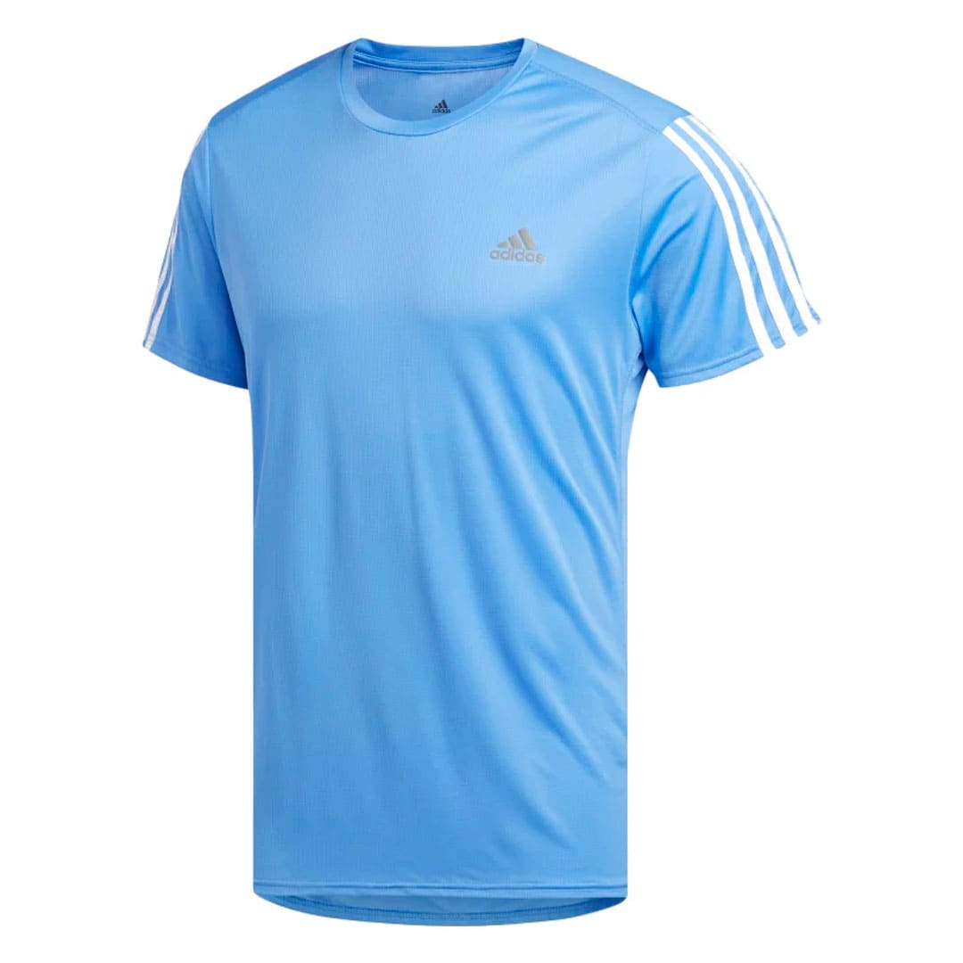 CAMISETA ADIDAS MASCULINA RUN 3S  SPORTS AZUL