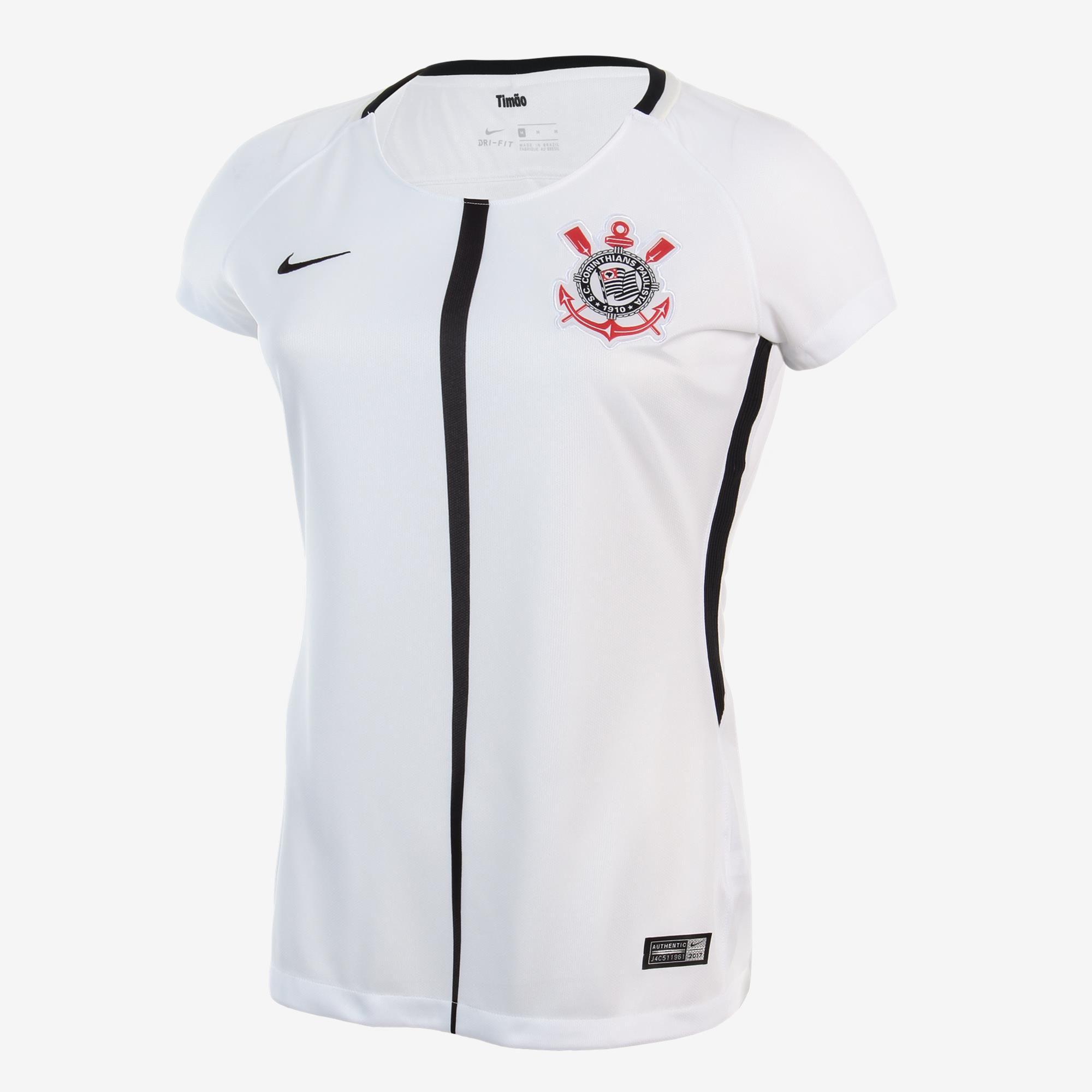 316af2257 Camiseta Feminina Corinthians i 17/18 S/nº Dri-fit Torcedor Oficial ...