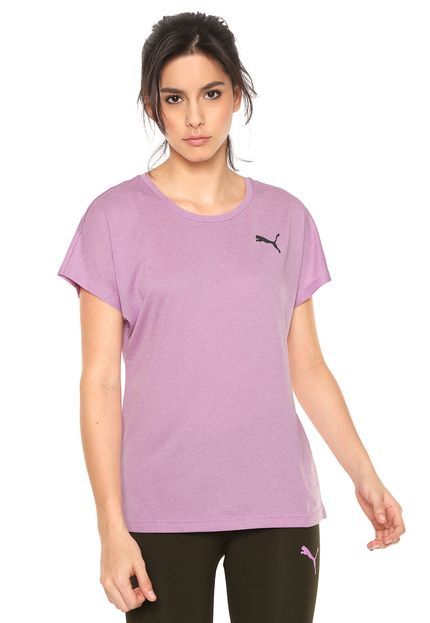 Camiseta Feminina Puma Active Mesh Heather Tee