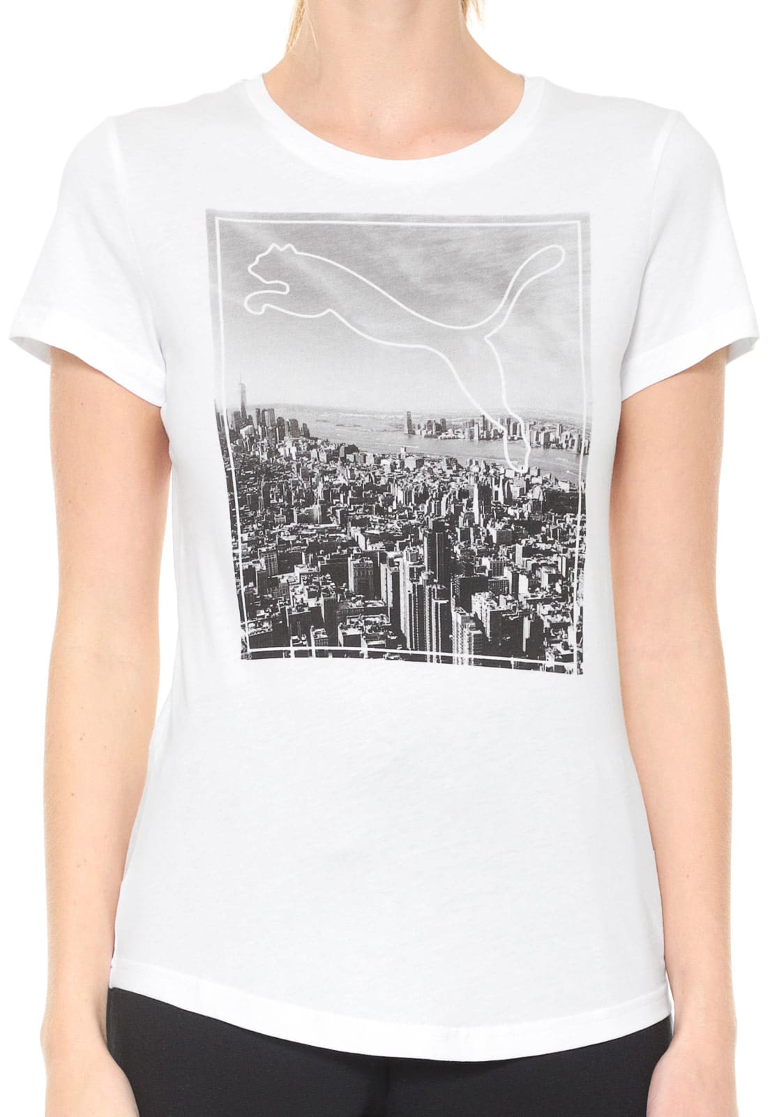 CAMISETA FEMININA PUMA GRAPHIC PHOTOPRINT TEE