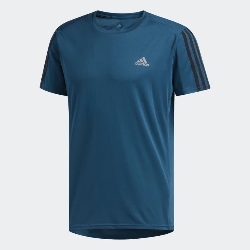 Camiseta Masculina Adidas Running 3-Stripes