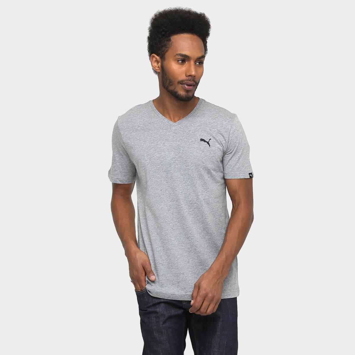 Camiseta Masculina Puma V-neck Drycell
