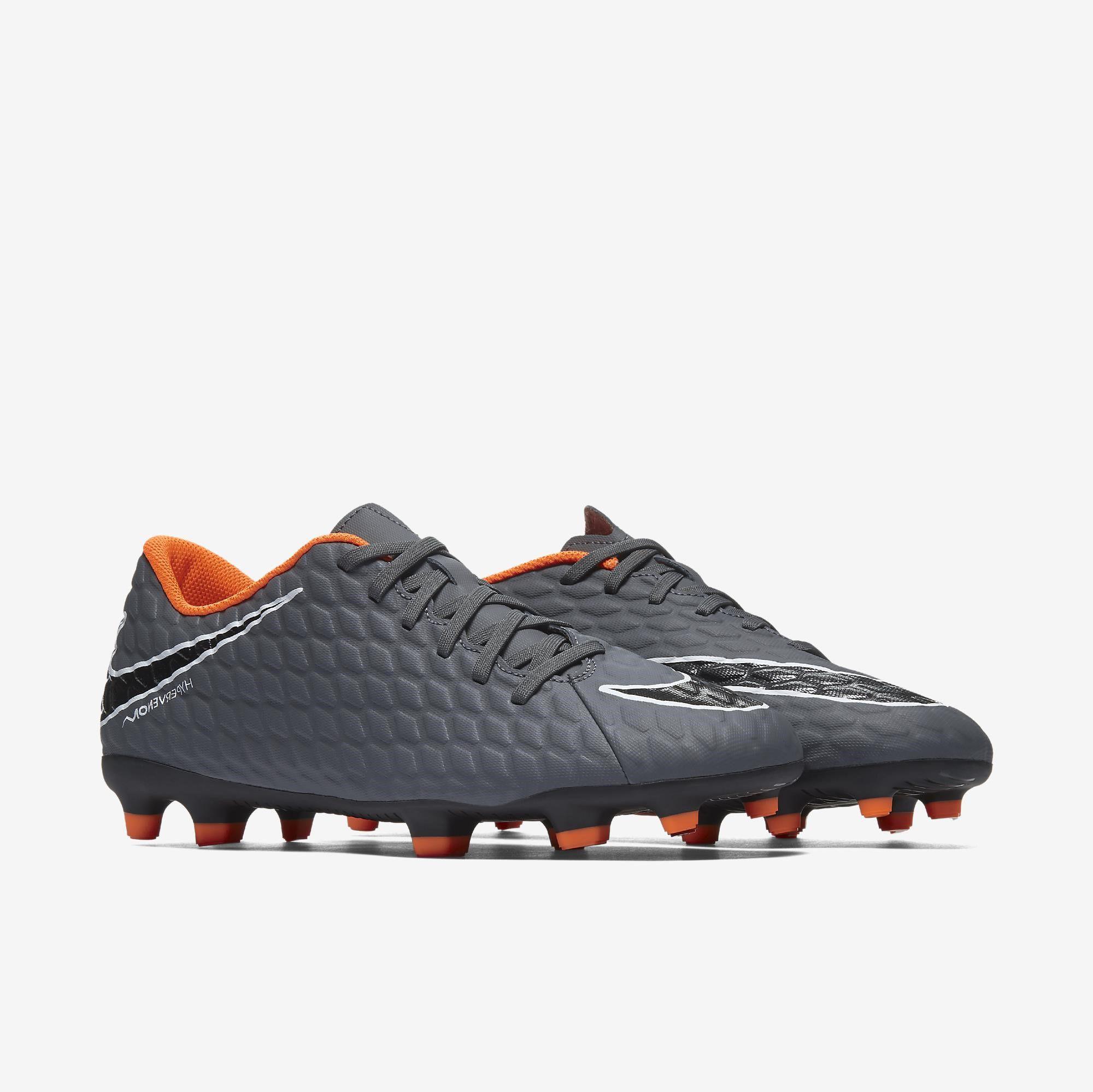 743a5f3bc406a Chuteira Campo Nike Hypervenom Phantom 3 Club Fg -cinza Laranja ...