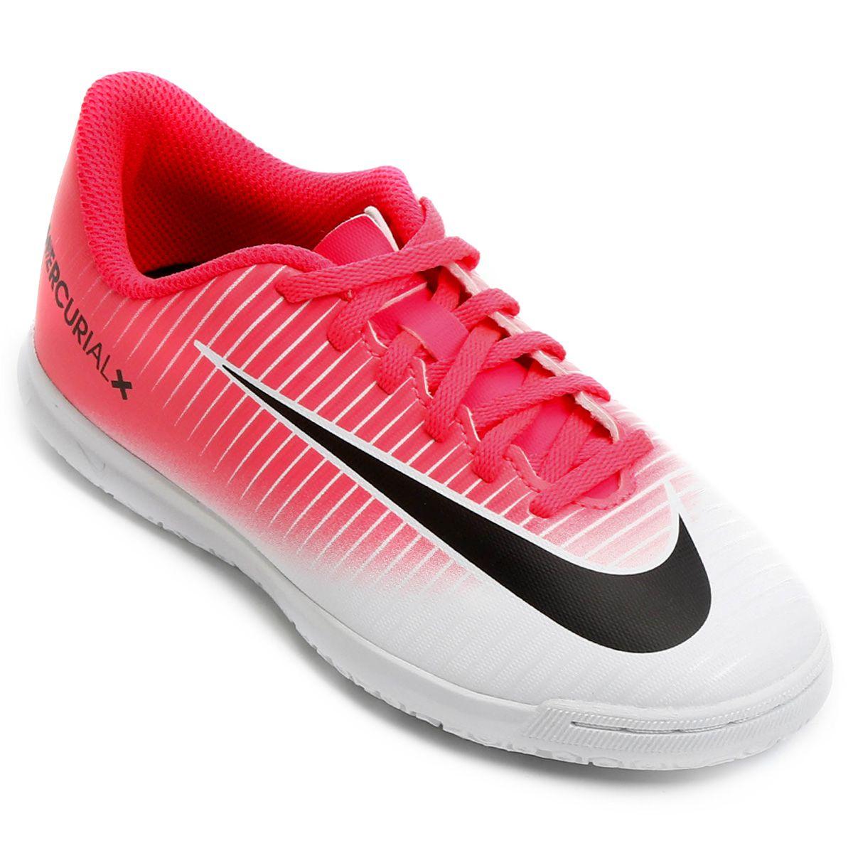 Chuteira Futsal Infantil Nike Mercurial Vortex 3 IC - BRACIA SHOP ... 7232b2ea9ff97