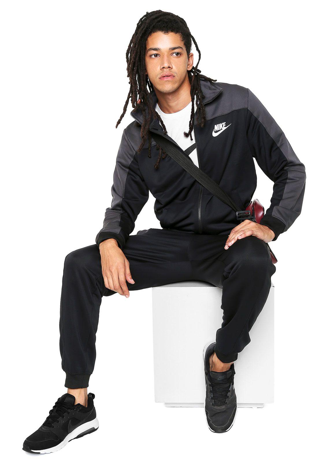 b8e30c14c3f Conjunto Agasalho Masculino Nike Trk Suit Pk- Preto - BRACIA SHOP ...