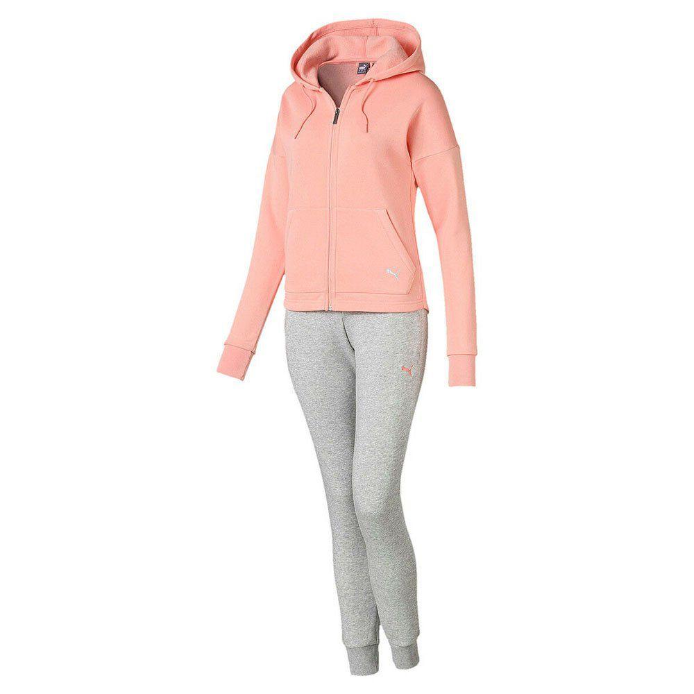 Conjunto Feminino Puma Clean Sweat Suit Cl Peach
