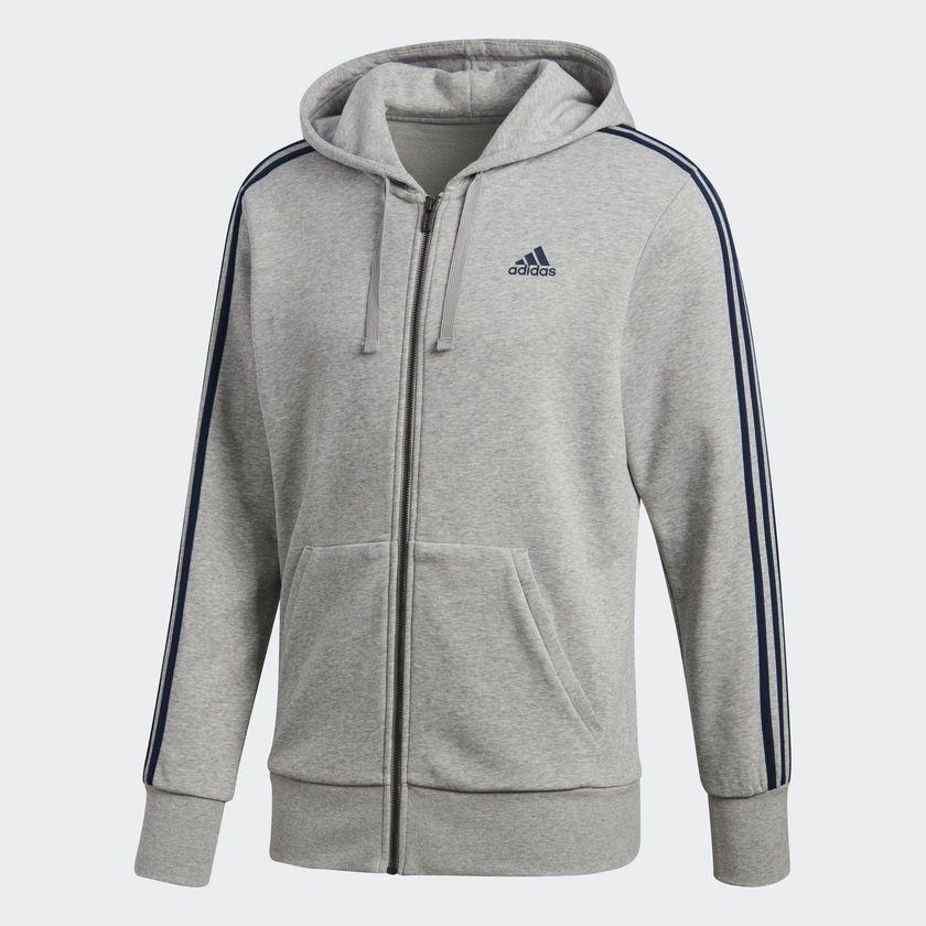 dc4fd9e8bf0 Jaqueta Moletom Masculina Adidas Ess 3s Fz Hood - BRACIA SHOP  Loja ...