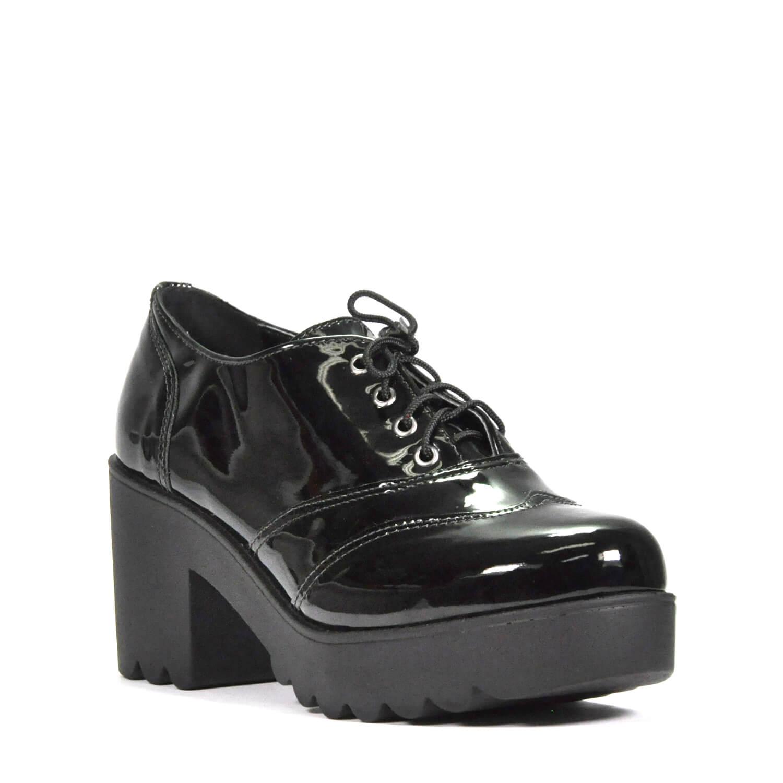 a584d8462 Sapato Salto Tratorado Leidi Lu Verniz - BRACIA SHOP  Loja de Roupas ...