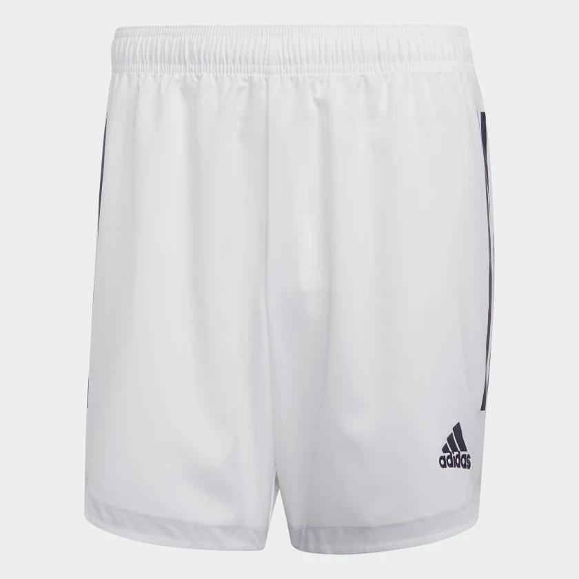 Shorts Futebol Masculino Branco Adidas 3 Listras