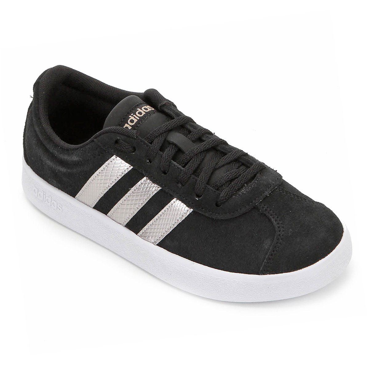 Tênis Adidas Vl Court 20 Feminino Preto Branco